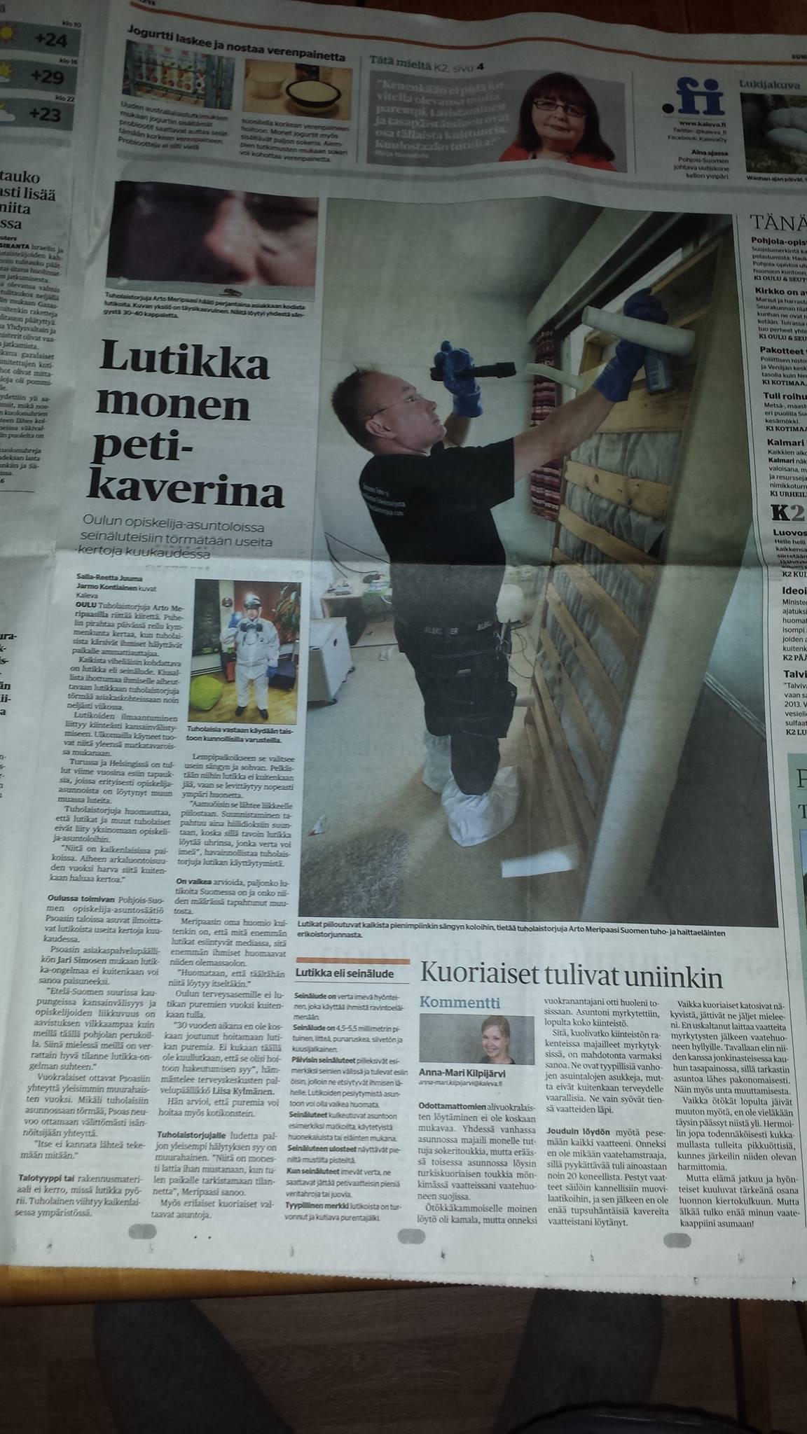 sanomalehti kaleva ilmoitukset Suonenjoki